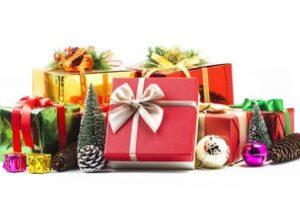 Ausmalbilder Geschenk. Weihnachtsgeschenkezum Drucken