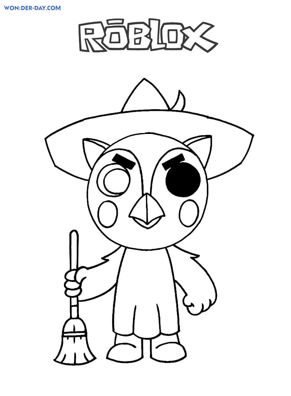 Piggy Roblox coloring pages   WONDER DAY — Coloring pages for ...