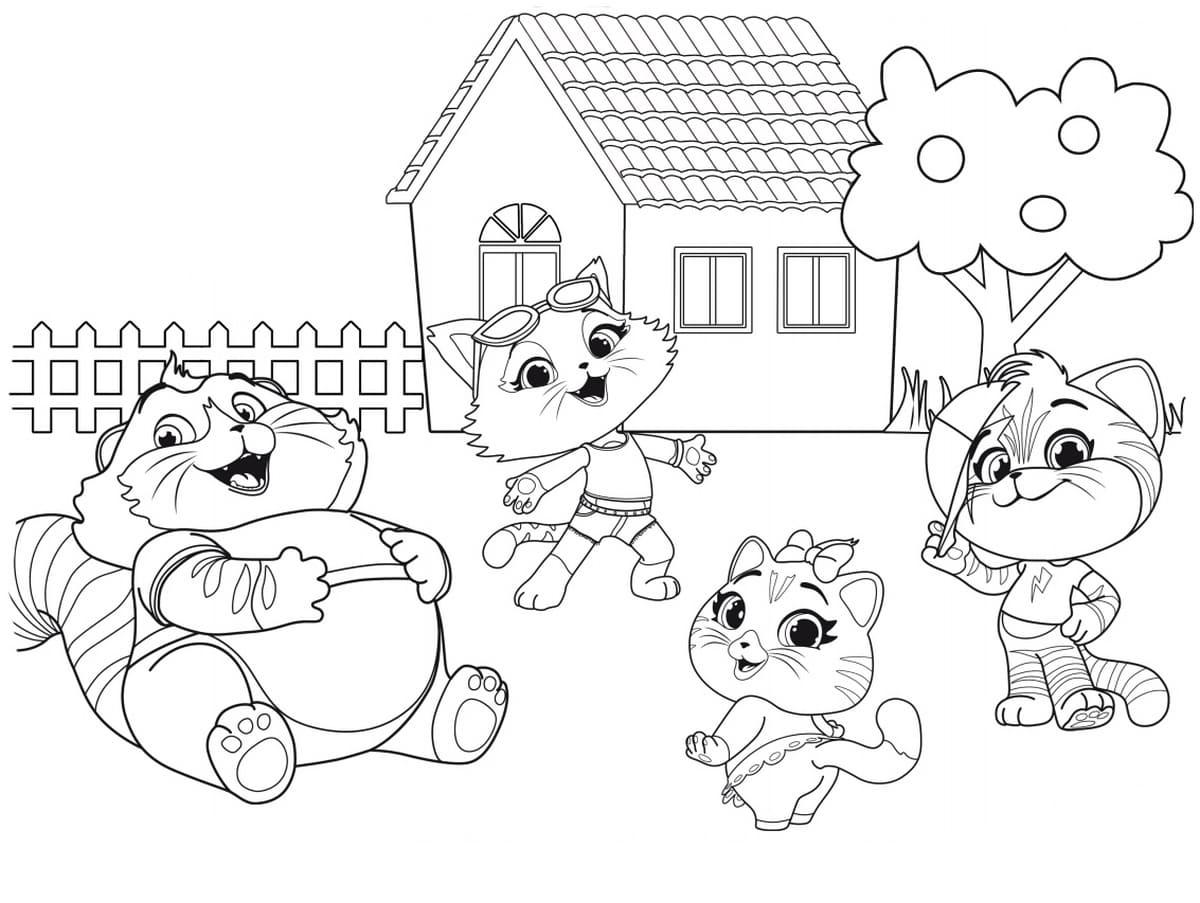 Disegni Da Colorare 44 Gatti Disegni Da Colorare Per Bambini
