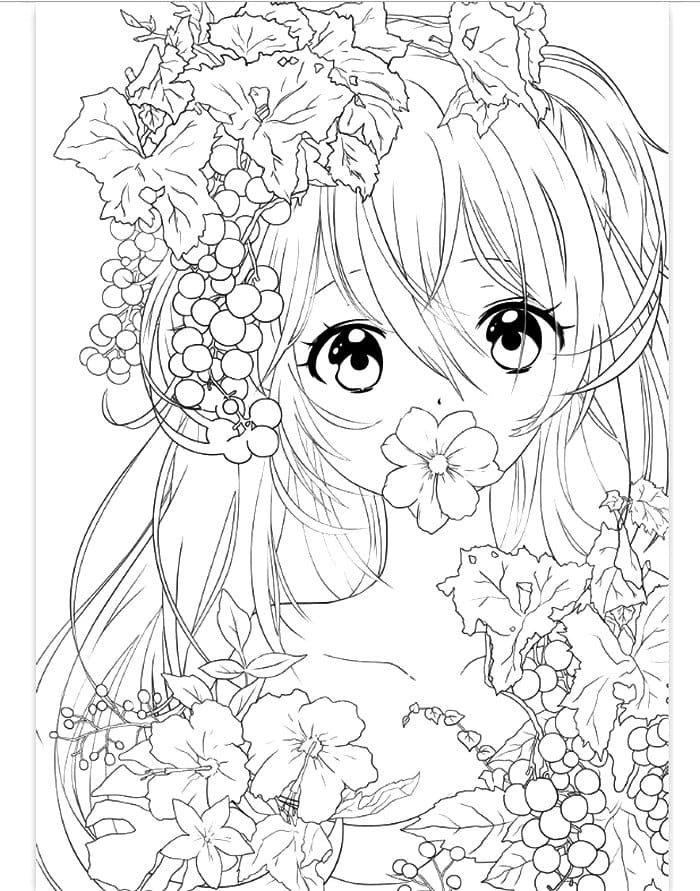 Anime Coloring Pages. Print For Free WONDER DAY