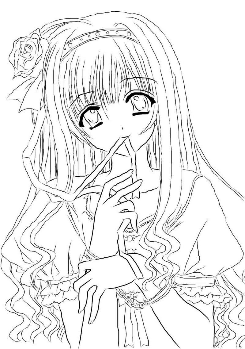 Ausmalbilder Anime. 100 Malvorlagen zum Ausdrucken