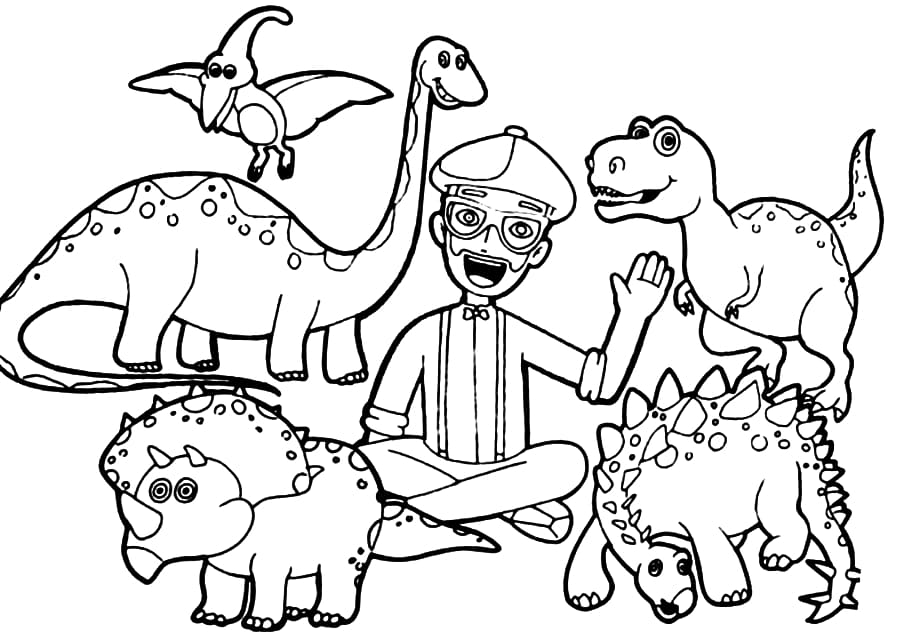 Free Printable Blippi Coloring Pages For Kids WONDER DAY — Coloring Pages  For Children And Adults