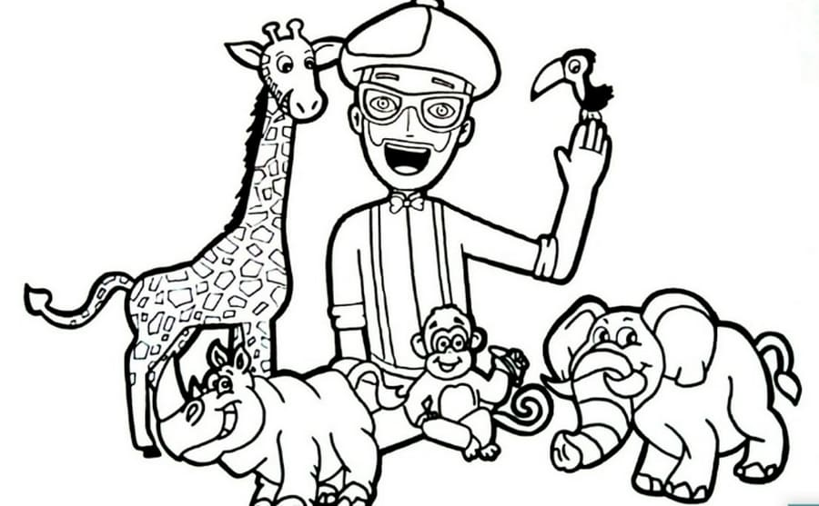 Free Printable Blippi Coloring Pages For Kids   WONDER DAY
