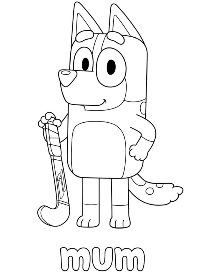 Bluey coloring pages. Print or download for free | WONDER DAY