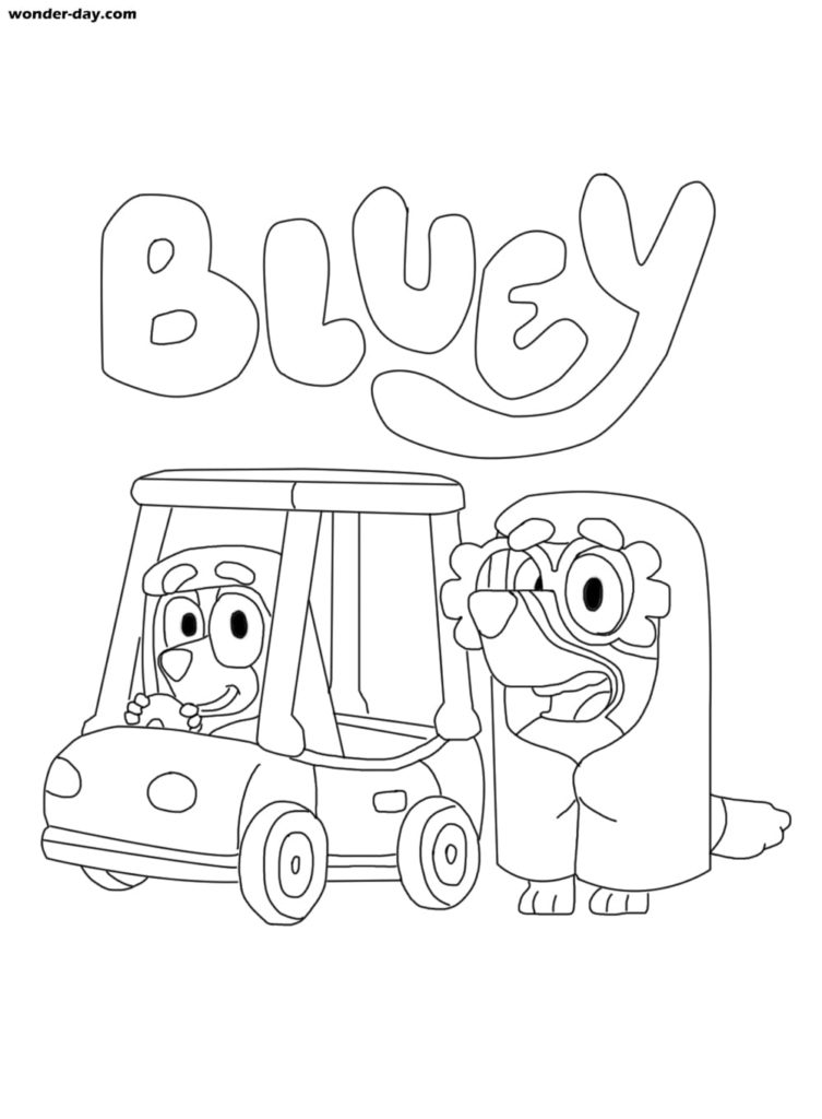 Bluey coloring pages. Print or download for free