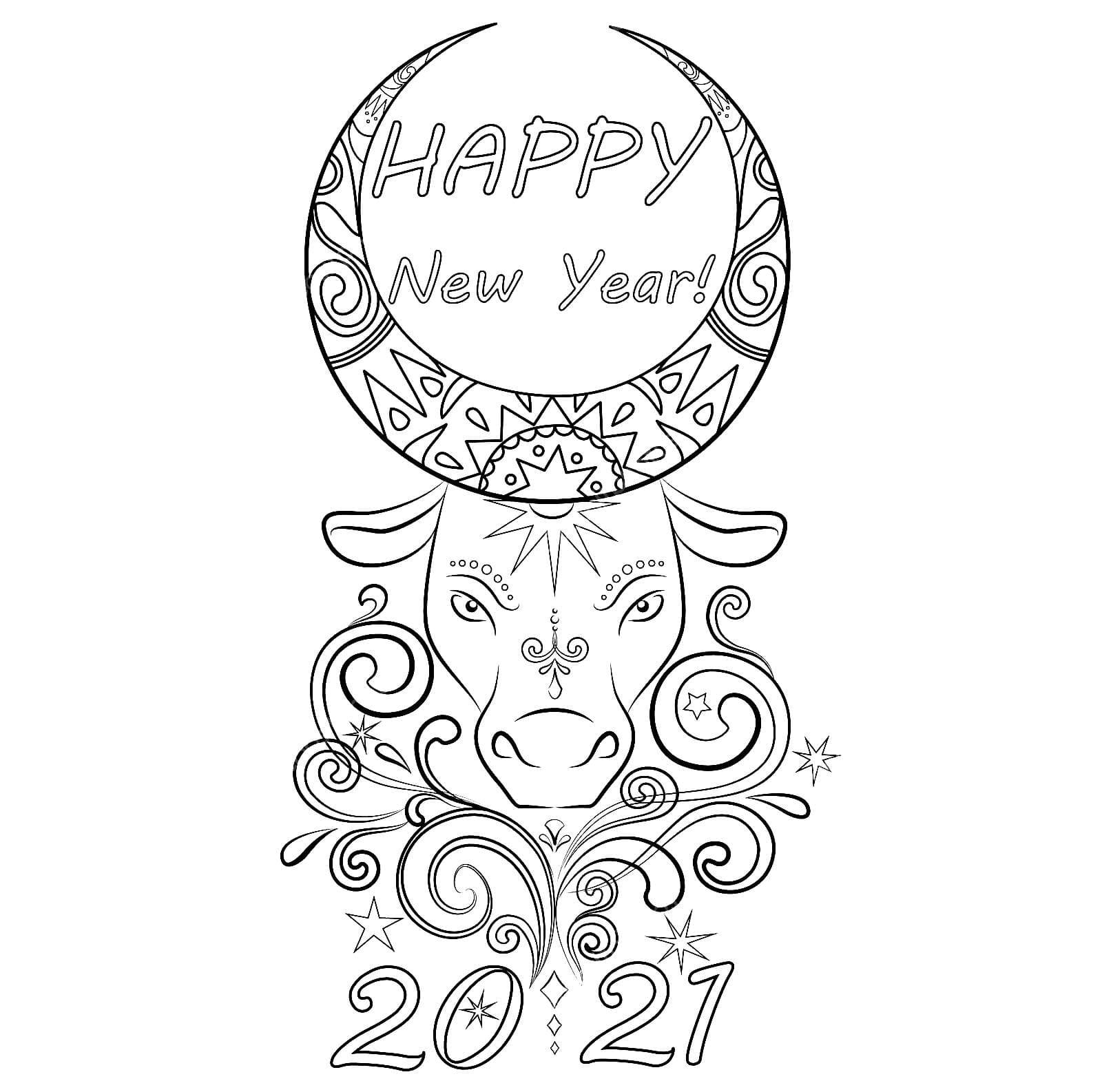 Ausmalbilder Neues Jahr 2021 - Frohes neues jahr 2021 ...