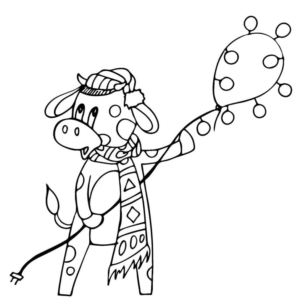 ausmalbilder büffel drucken büffel für neues jahr 2021