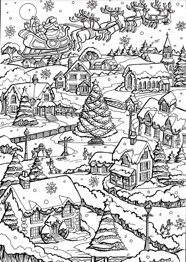 Christmas Coloring Pages For Adults Anti Stress Coloring Pages