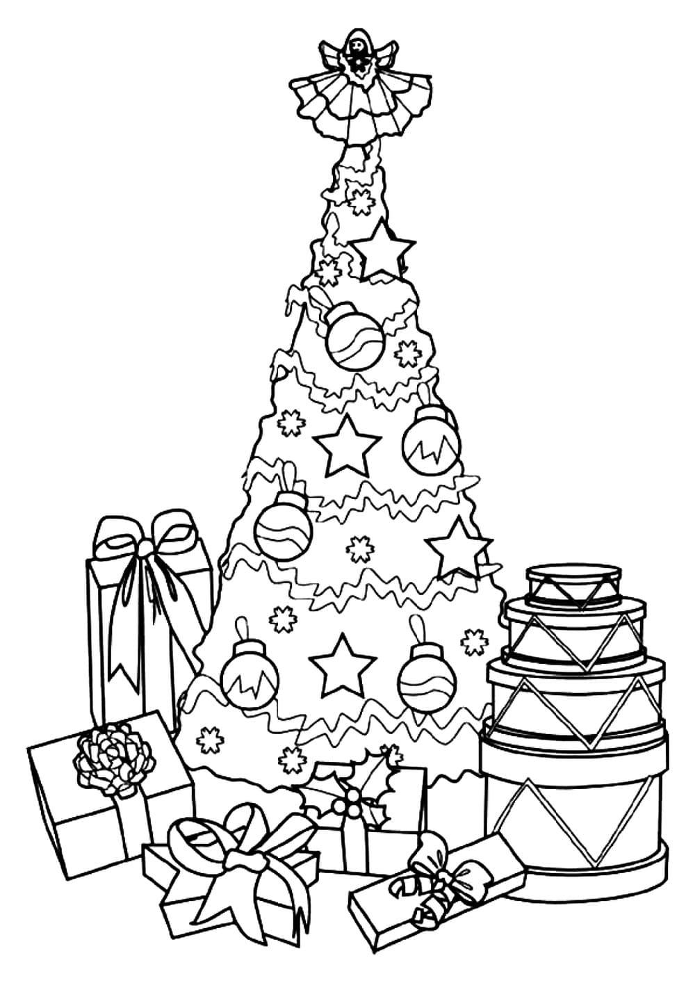 ausmalbilder geschenk. weihnachtsgeschenke zum drucken