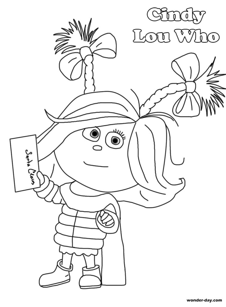 Grinch Coloring Pages Free Printable Coloring Pages