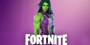 She Hulk Fortnite coloring pages
