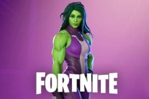 Coloriages She-Hulk Fortnite