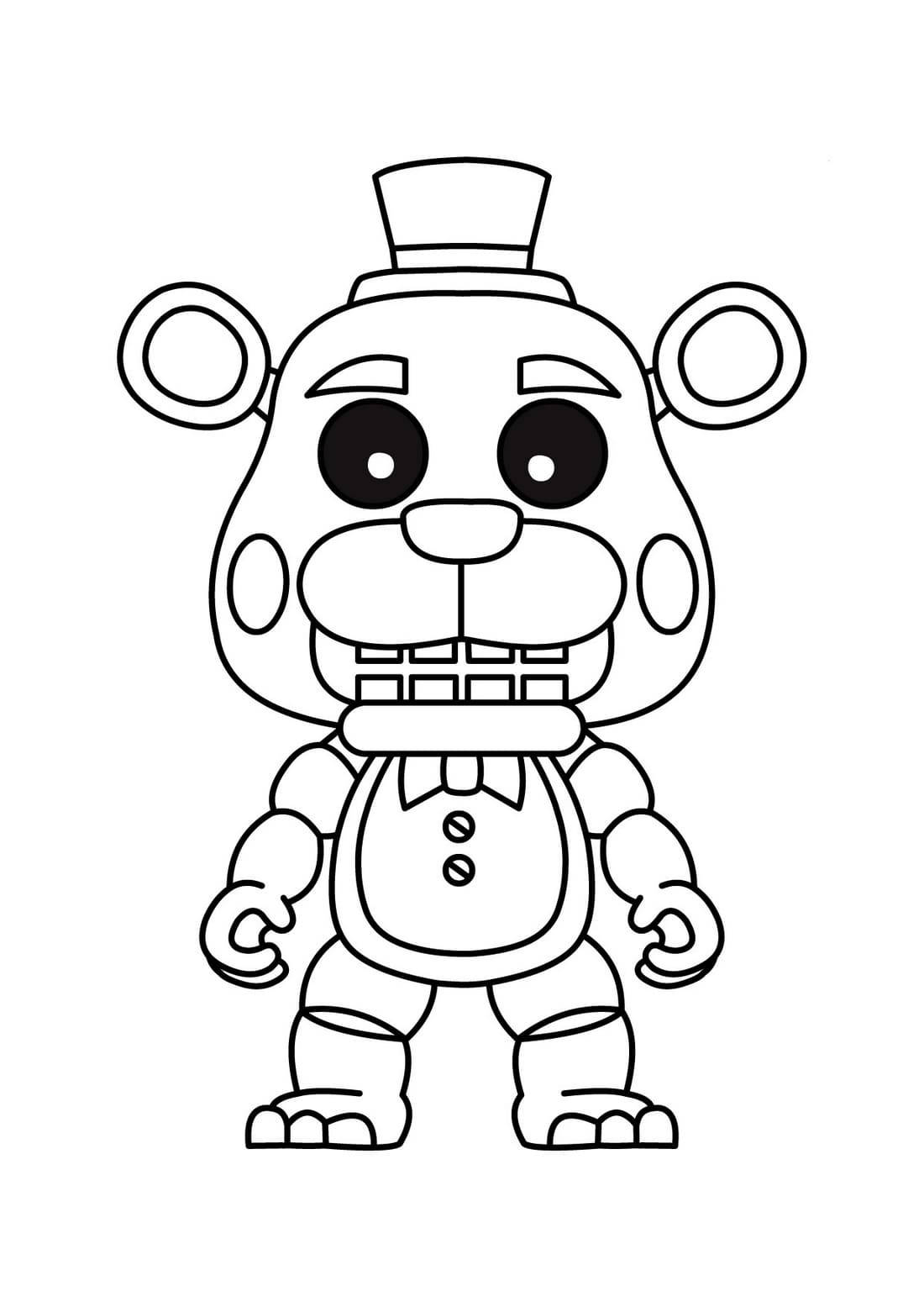 Freddy Coloring Pages Free Printable Coloring Pages
