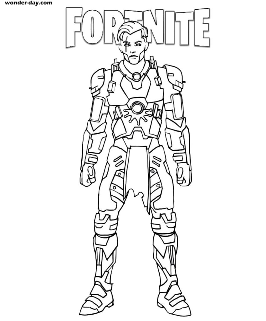 Disegni da colorare di Midas Fortnite