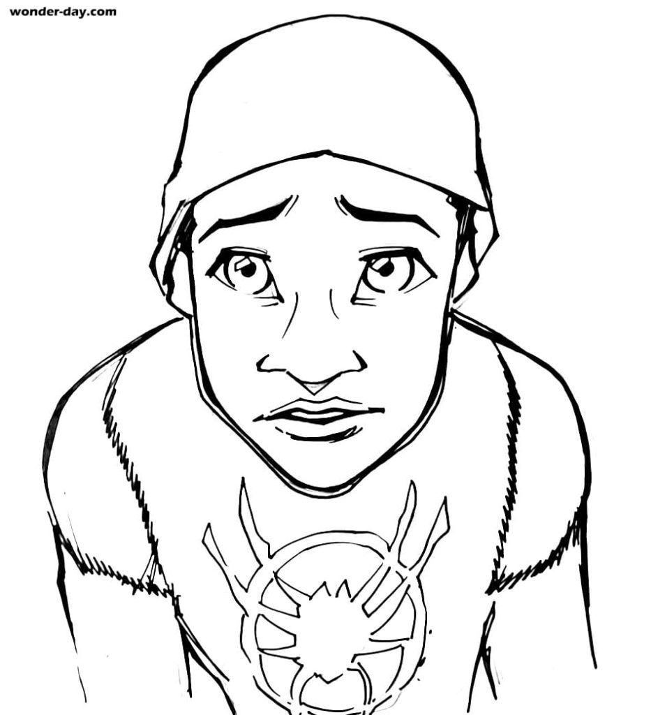 Miles Morales coloring pages. Free printable coloring pages