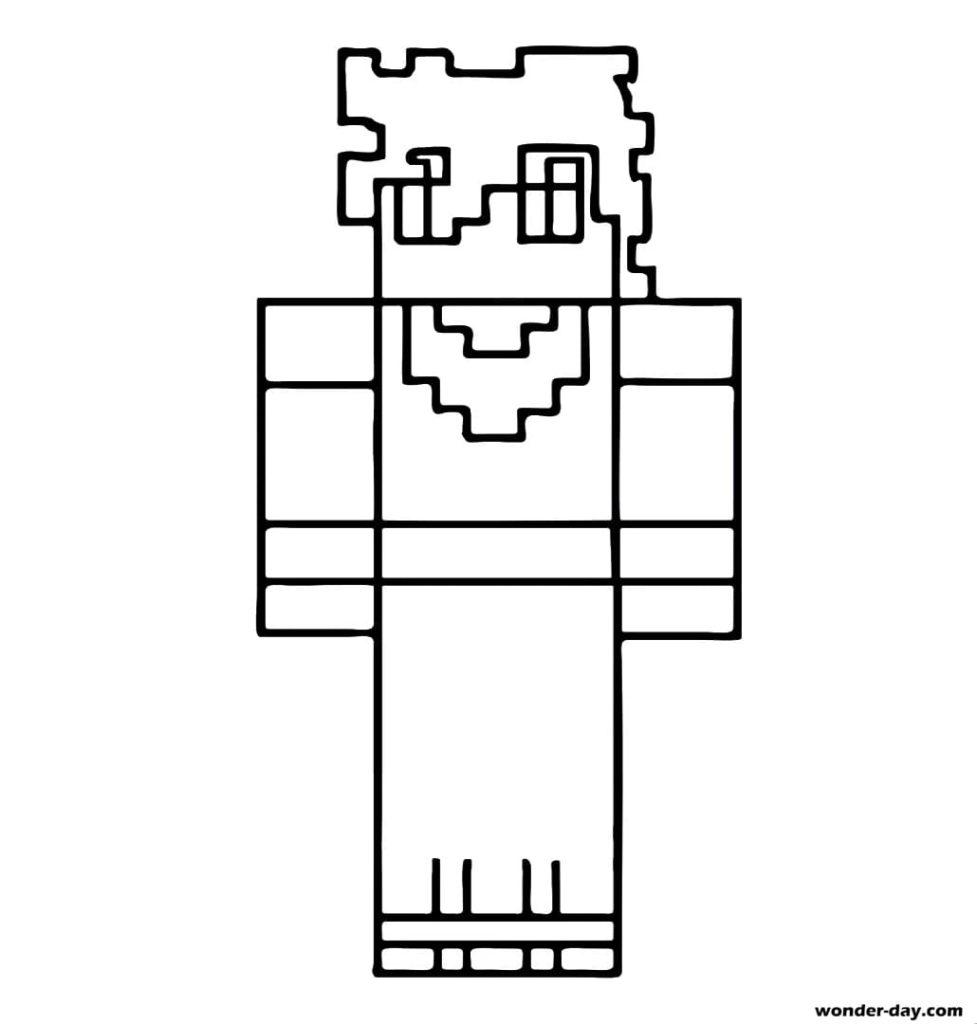 100 Ausmalbilder Minecraft. Kostenlos drucken   WONDER DAY