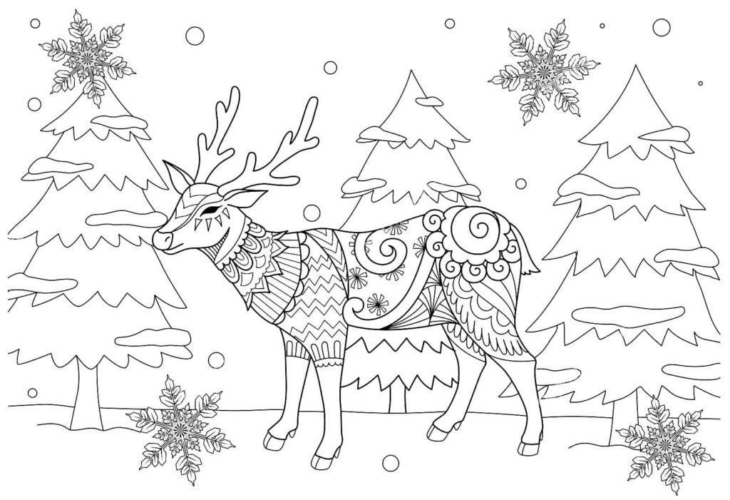 ausmalbilder winter für kinder im format a4  wonder day