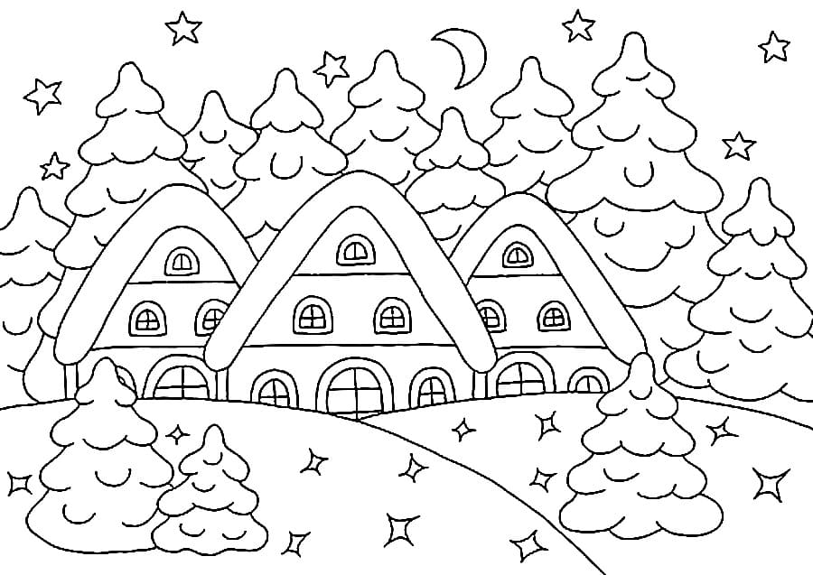 Winter Coloring Pages Print For Kids In A4 Format Wonder Day