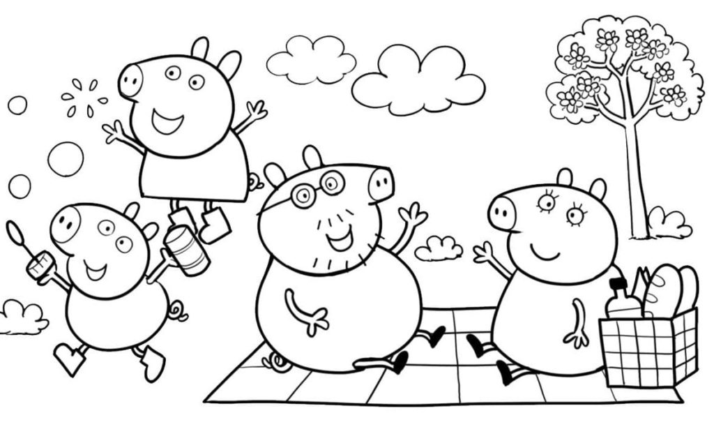 Peppa Pig Coloring Pages Print For Free Wonder Day