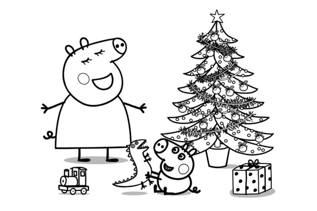 Peppa Pig Babbo Natale Da Colorare.Disegni Di Peppa Pig Da Colorare E Stampare Wonder Day Disegni Da Colorare Per Bambini E Adulti