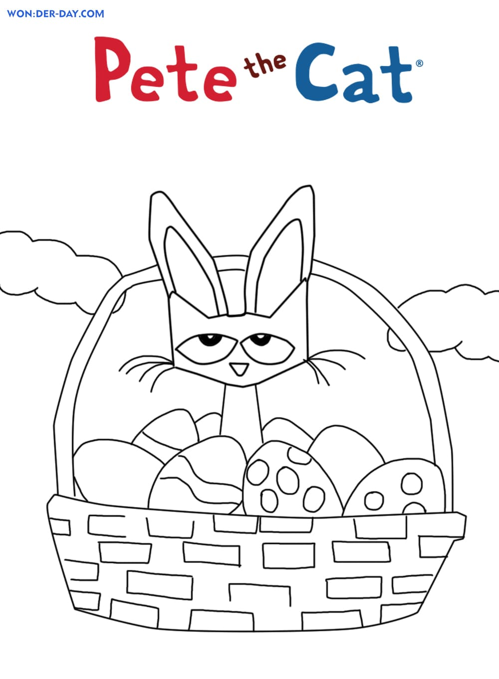 Pete the Cat coloring pages. Free coloring pages   WONDER DAY ...