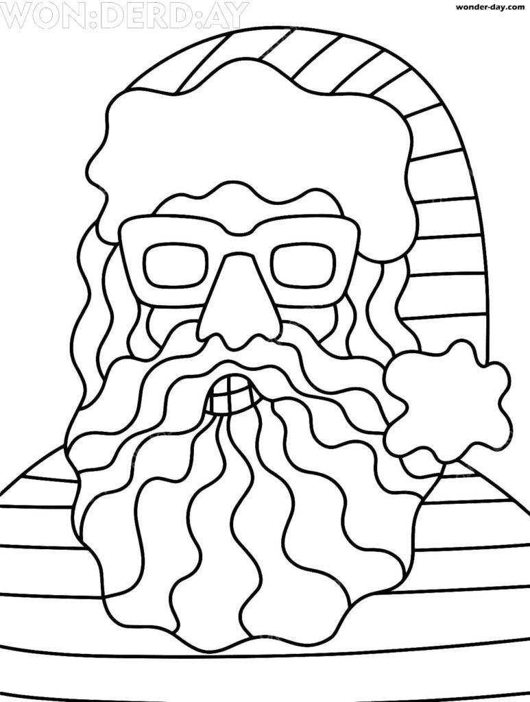 ausmalbilder weihnachtsmann kostenlos drucken
