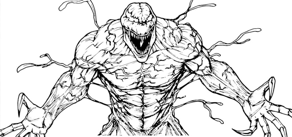 Venom coloring pages. Printable coloring pages for Boys