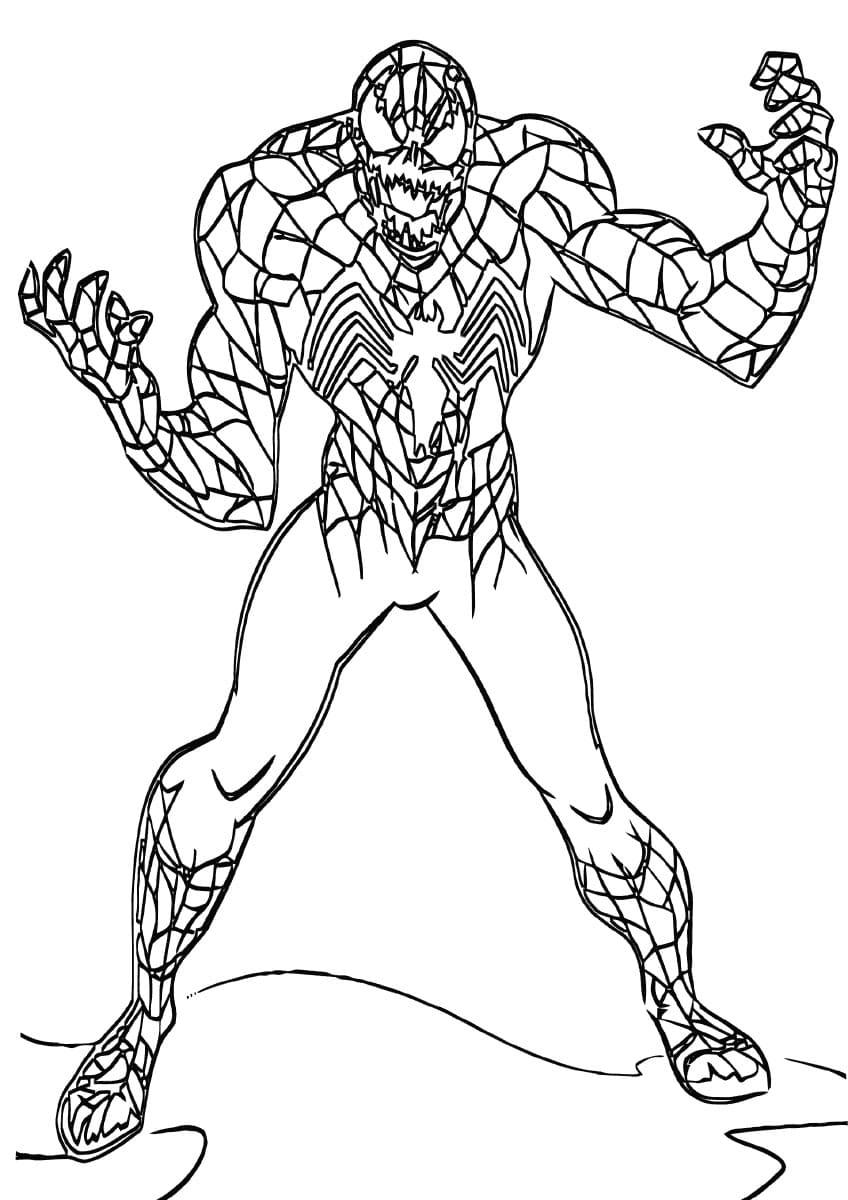 Dibujos de Venom para colorear. Imprimir para niños