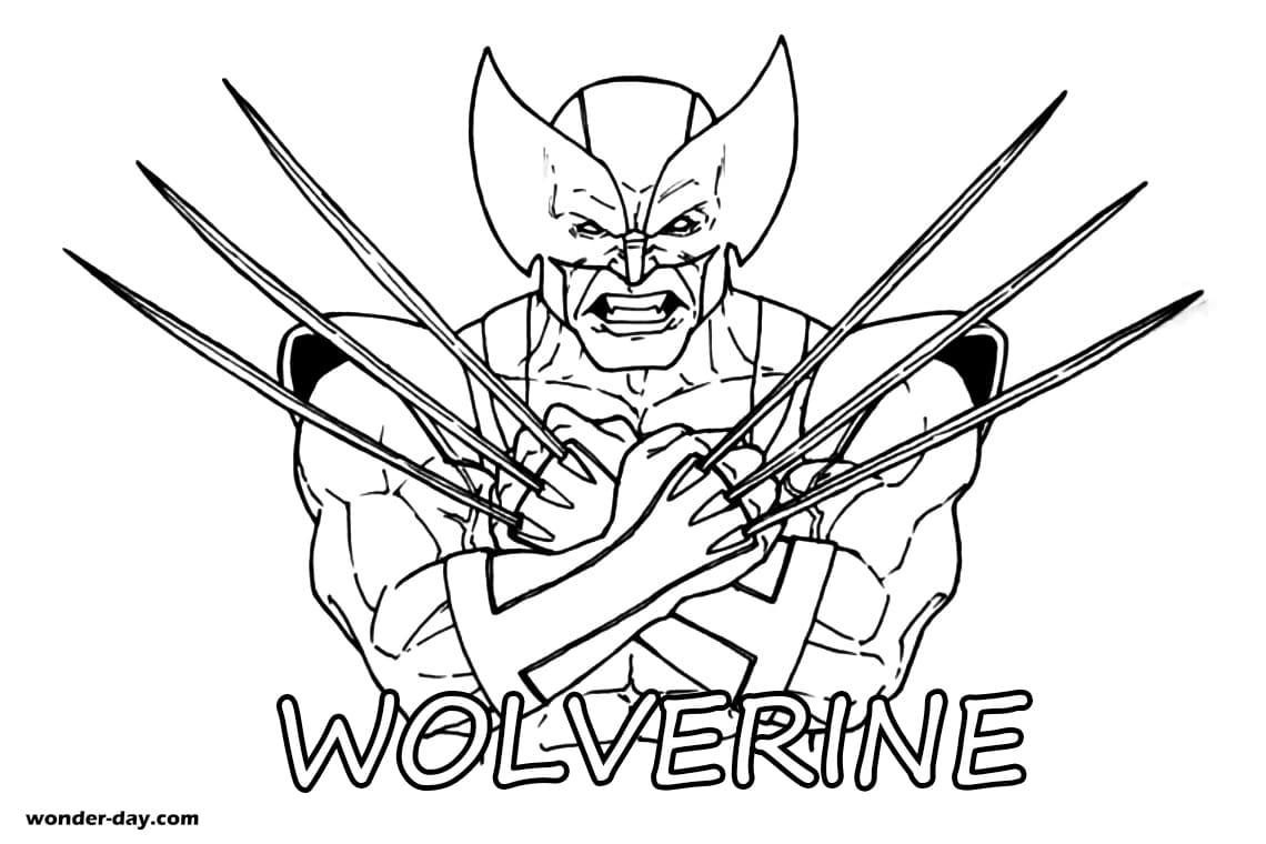 Ausmalbilder Wolverine. Drucken Sie kostenlos für Kinder