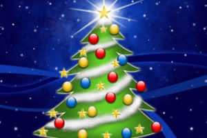 Dibujos de Árboles de Navidad para colorear