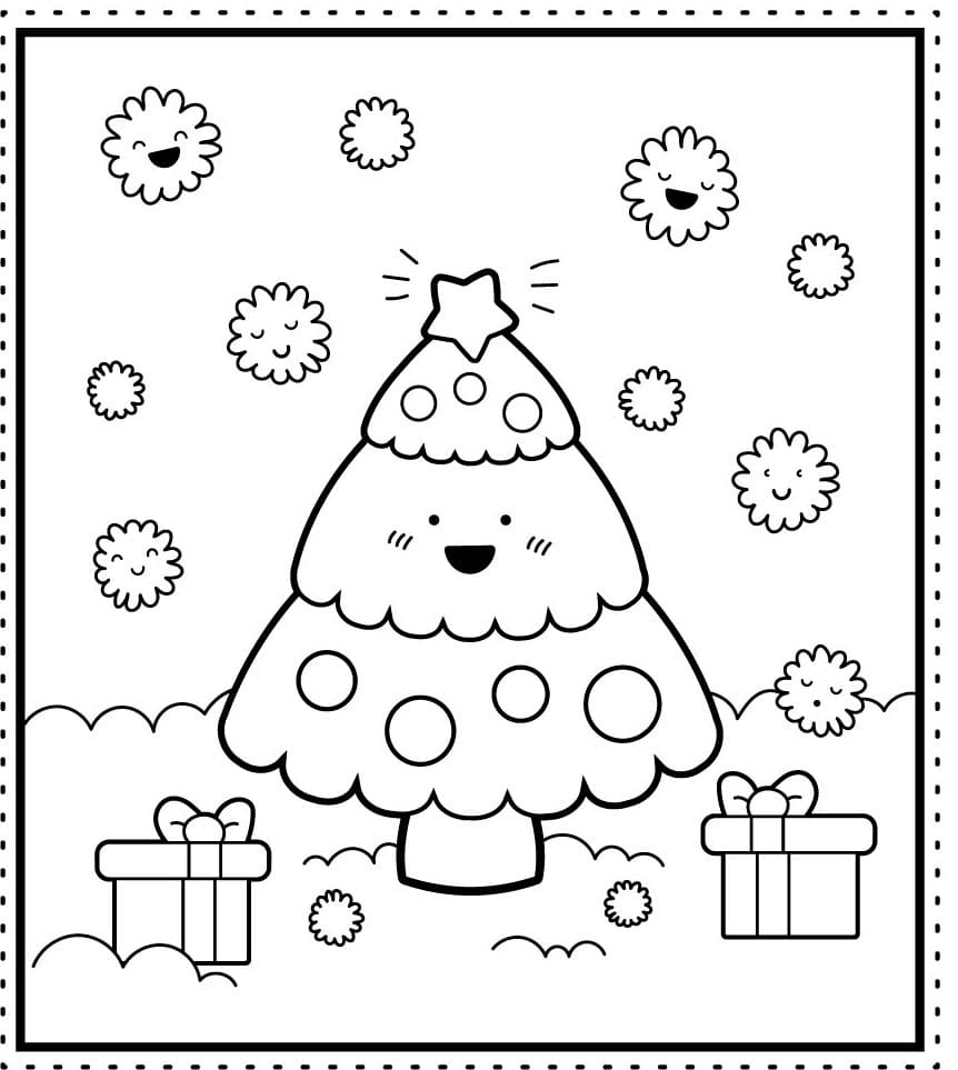 Christmas Tree coloring pages. Free coloring pages for Kids