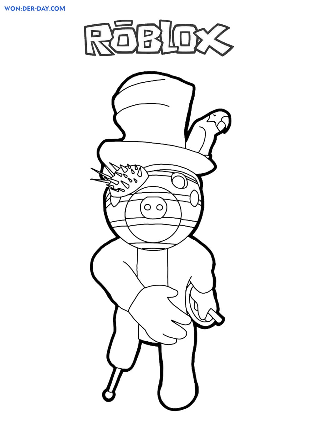 Piggy Roblox coloring pages | WONDER DAY