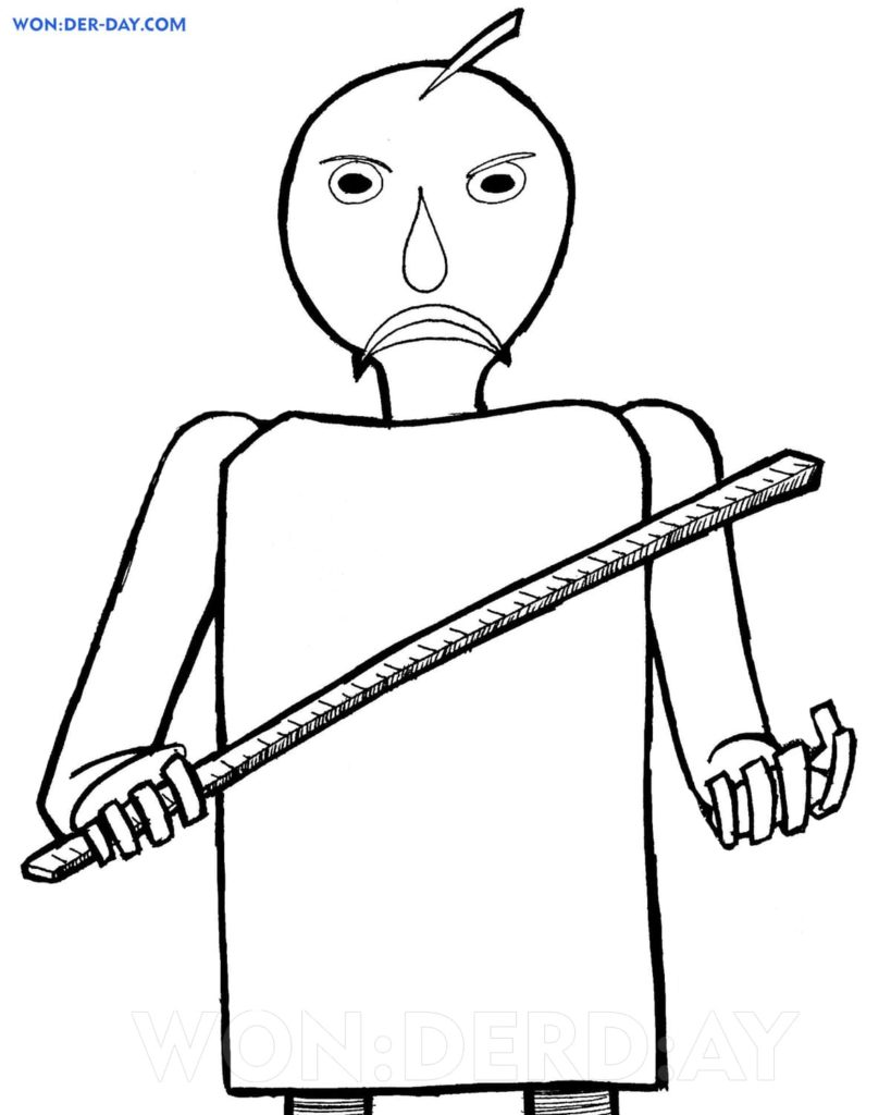 Baldi Basics coloring pages — Printable coloring pages