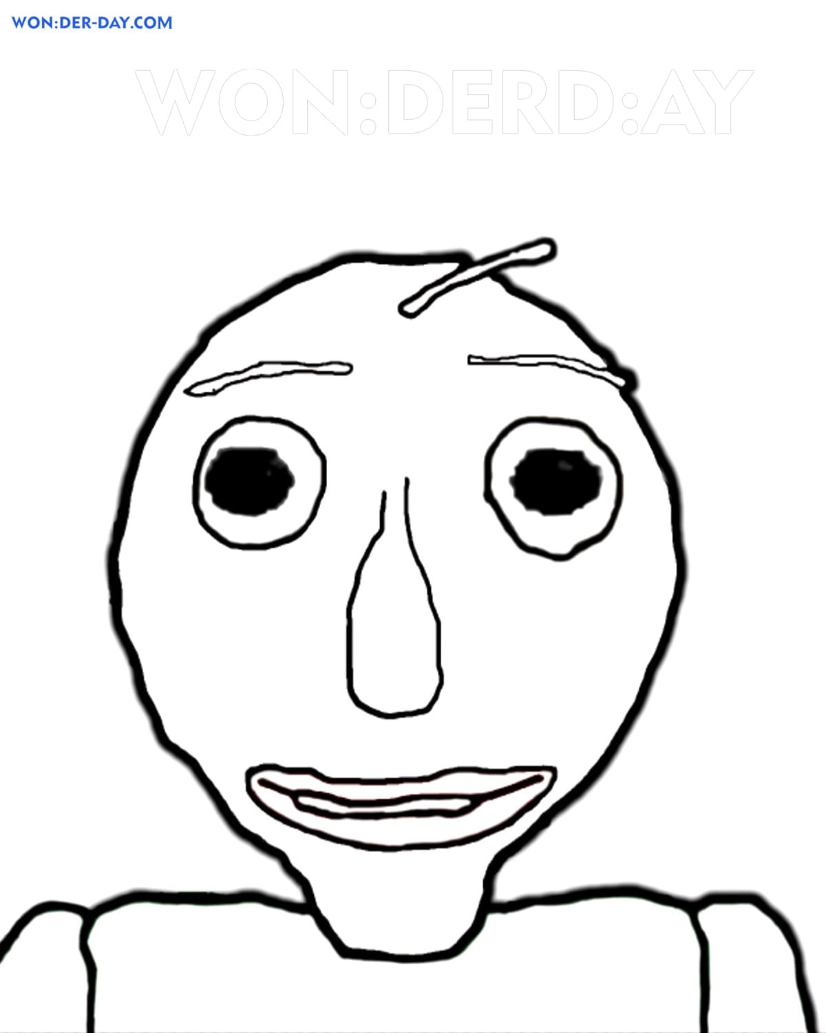 Baldi Basics Coloring Pages Printable Coloring Pages