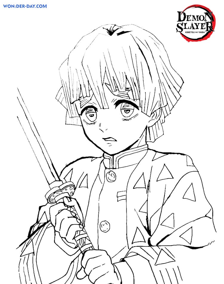 Demon Slayer coloring pages . Printable coloring pages