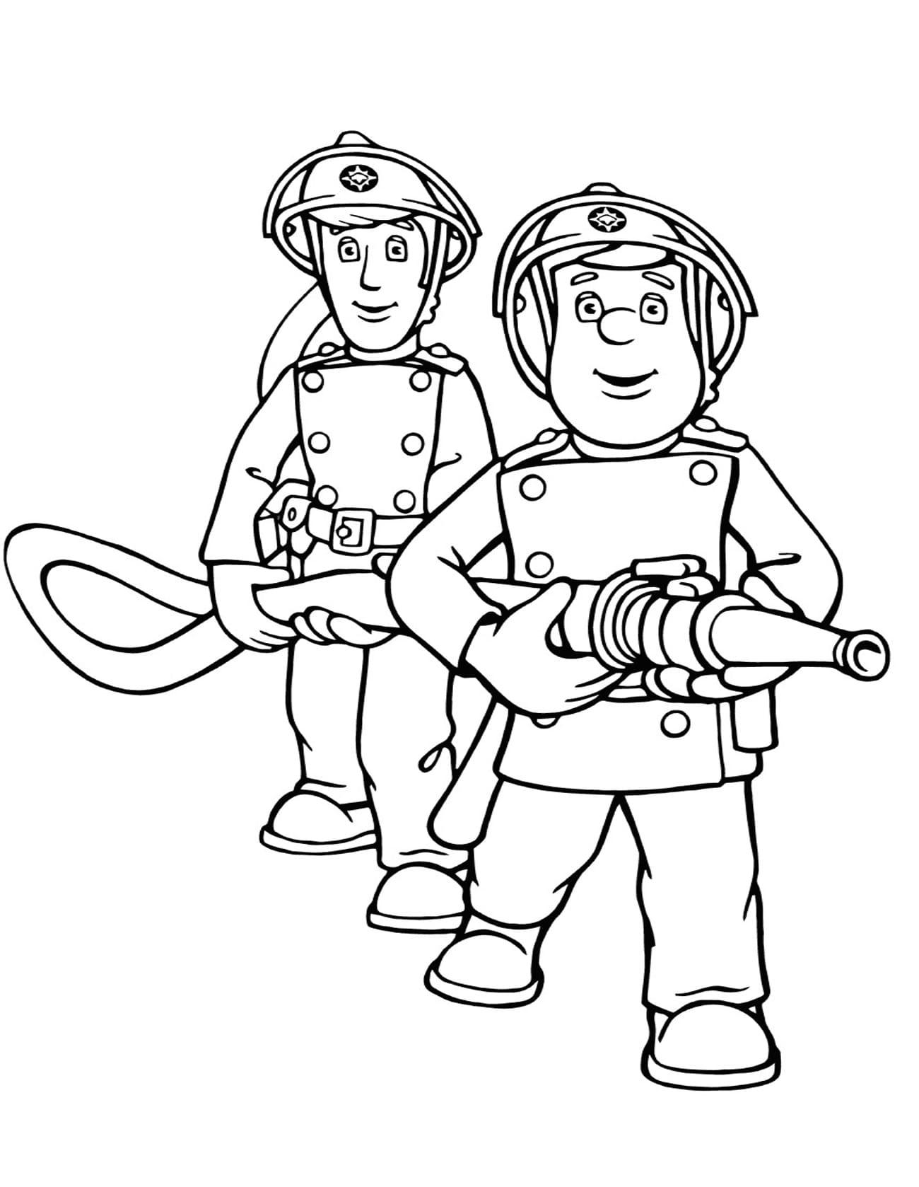ausmalbilder feuerwehrmann sam  drucken für kinder