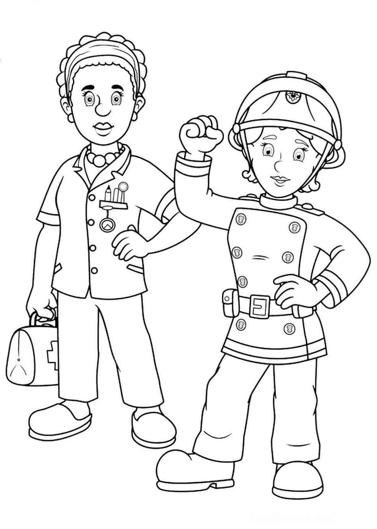 ausmalbilder feuerwehrmann sam . drucken für kinder