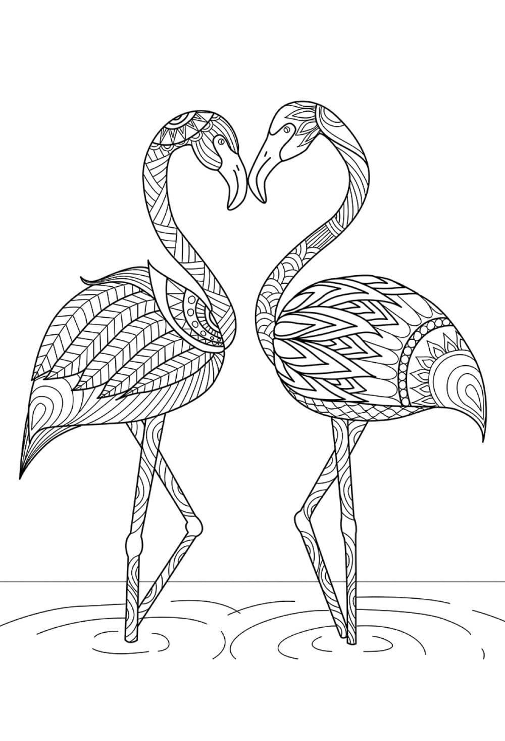 ausmalbilder flamingo  kostenlos zum ausdrucken