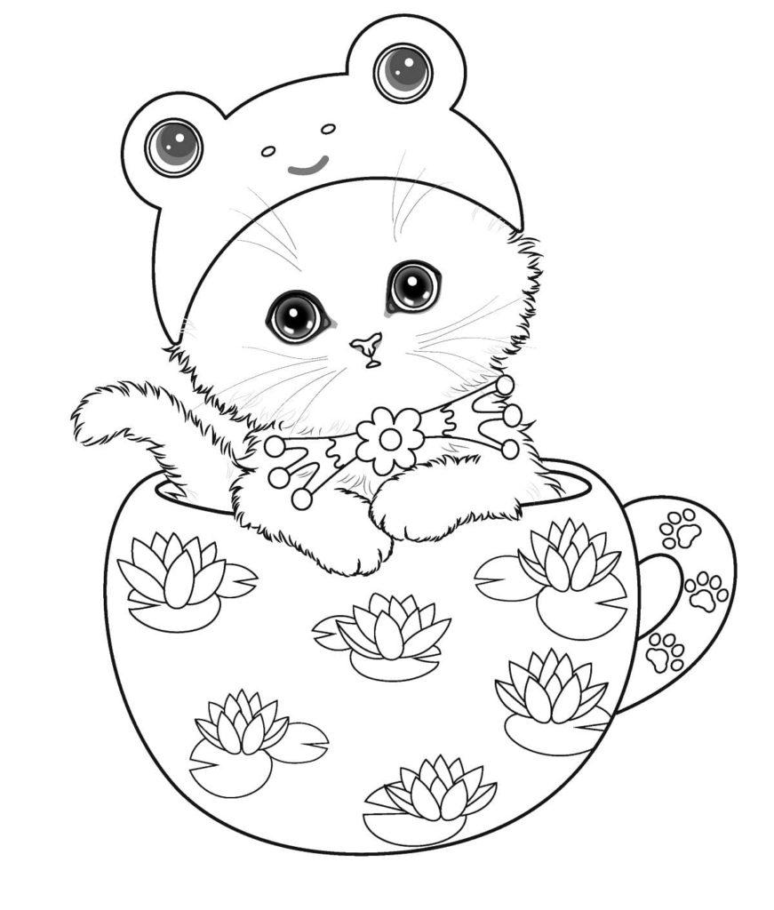 Coloriage Chaton Imprimer Pour Les Enfants Au Format A4