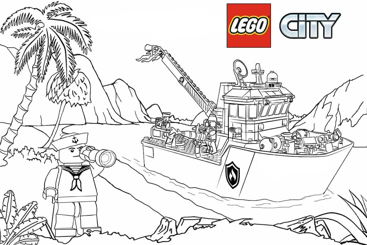 ausmalbilder lego city kostenlos drucken  wonder day
