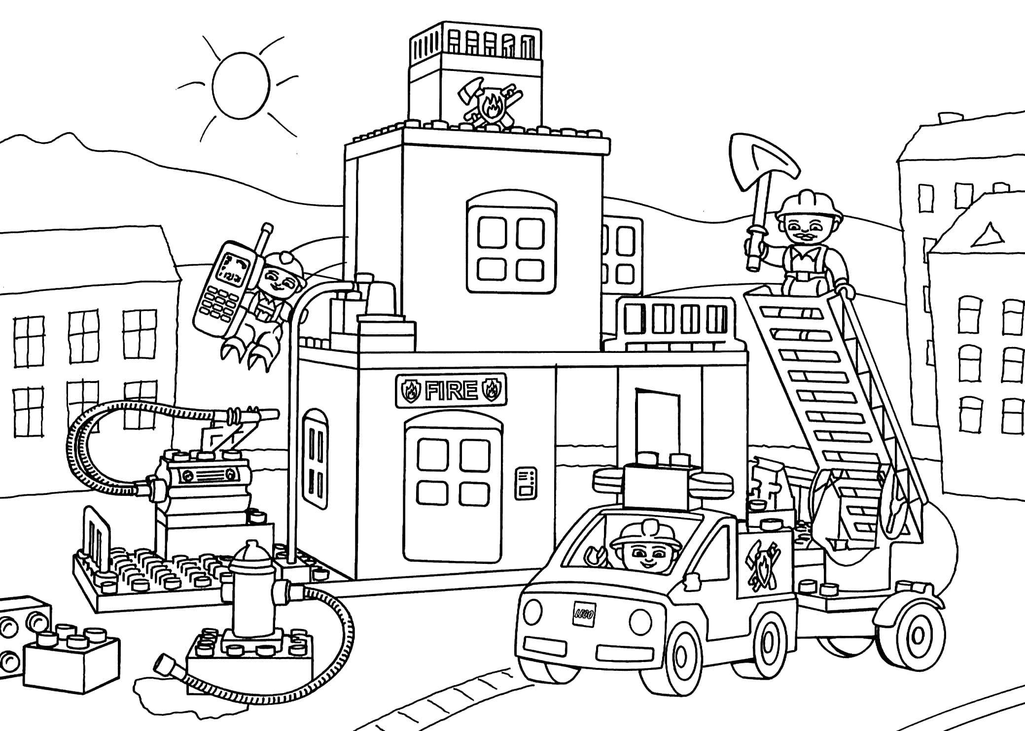 Ausmalbilder Lego City. Kostenlos drucken | WONDER DAY