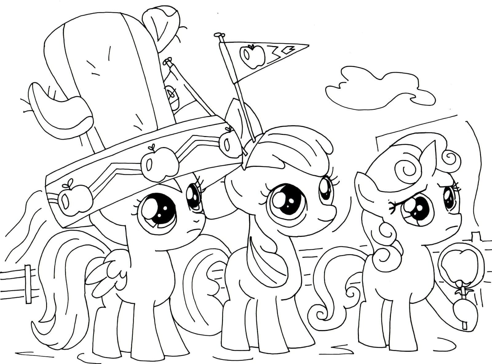 ausmalbilder my little pony zum ausdrucken  wonder day