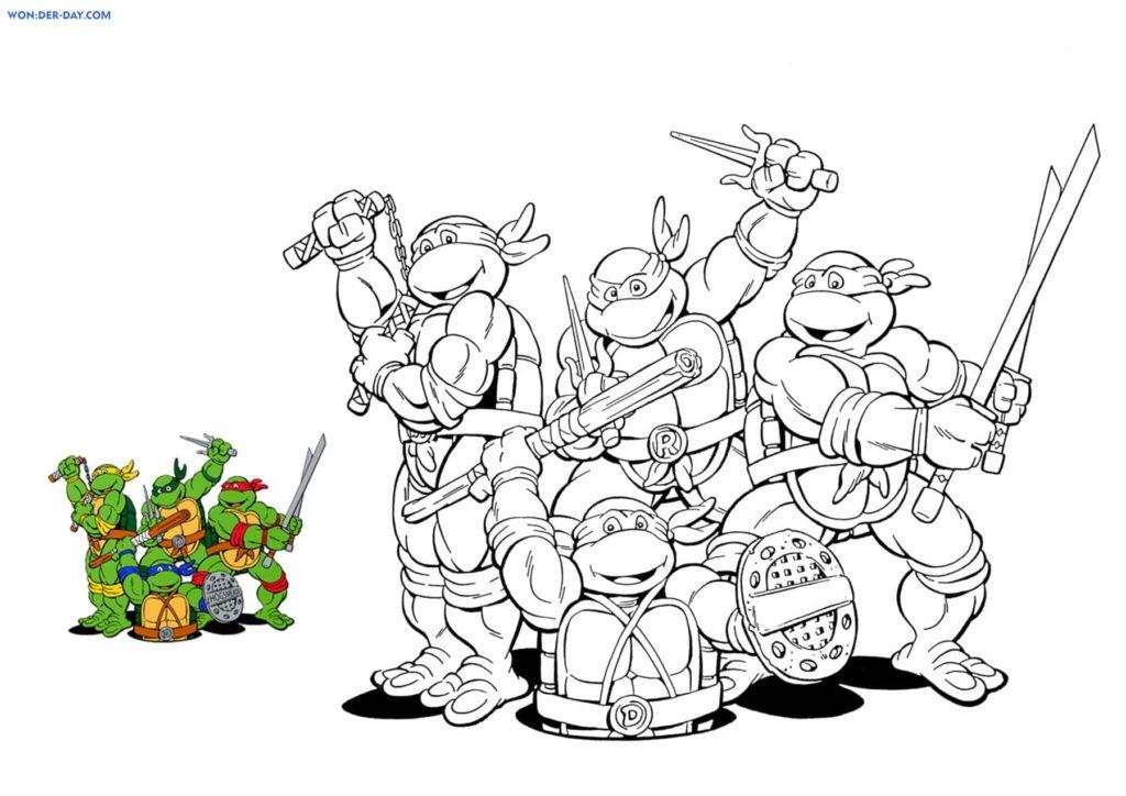 Coloriages Tortues Ninja Coloriages Gratuit A Imprimer