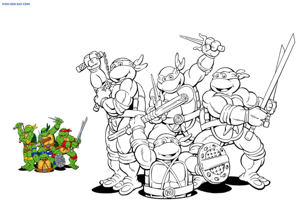 Dibujos De Tortugas Ninja Para Colorear Para Imprimir Gratis