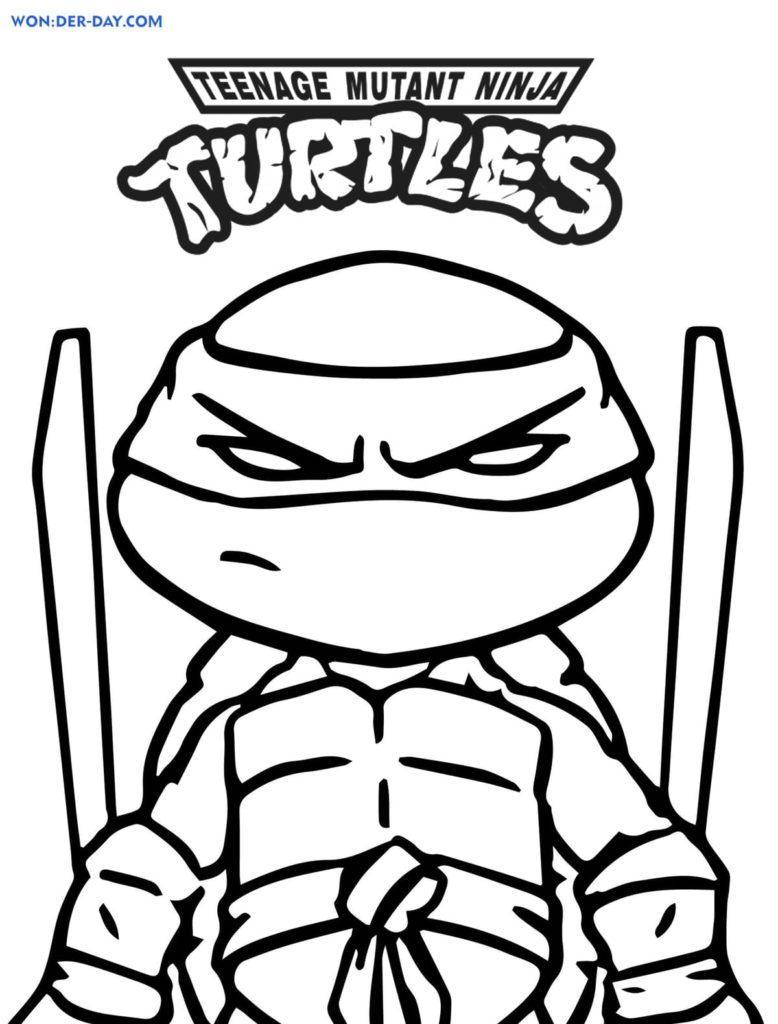 Teenage Mutant Ninja Turtles Coloring Pages Wonder Day Com