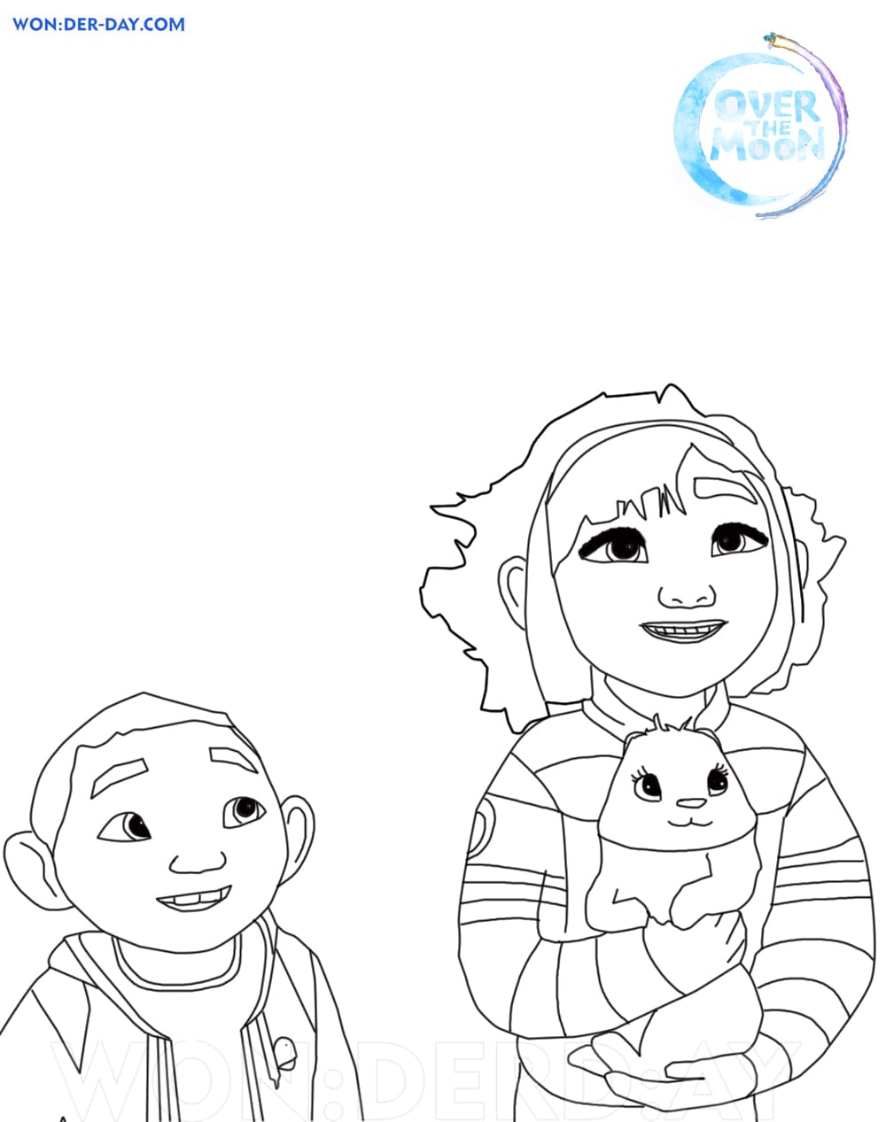 Over the Moon Coloring pages. Printable Coloring pages