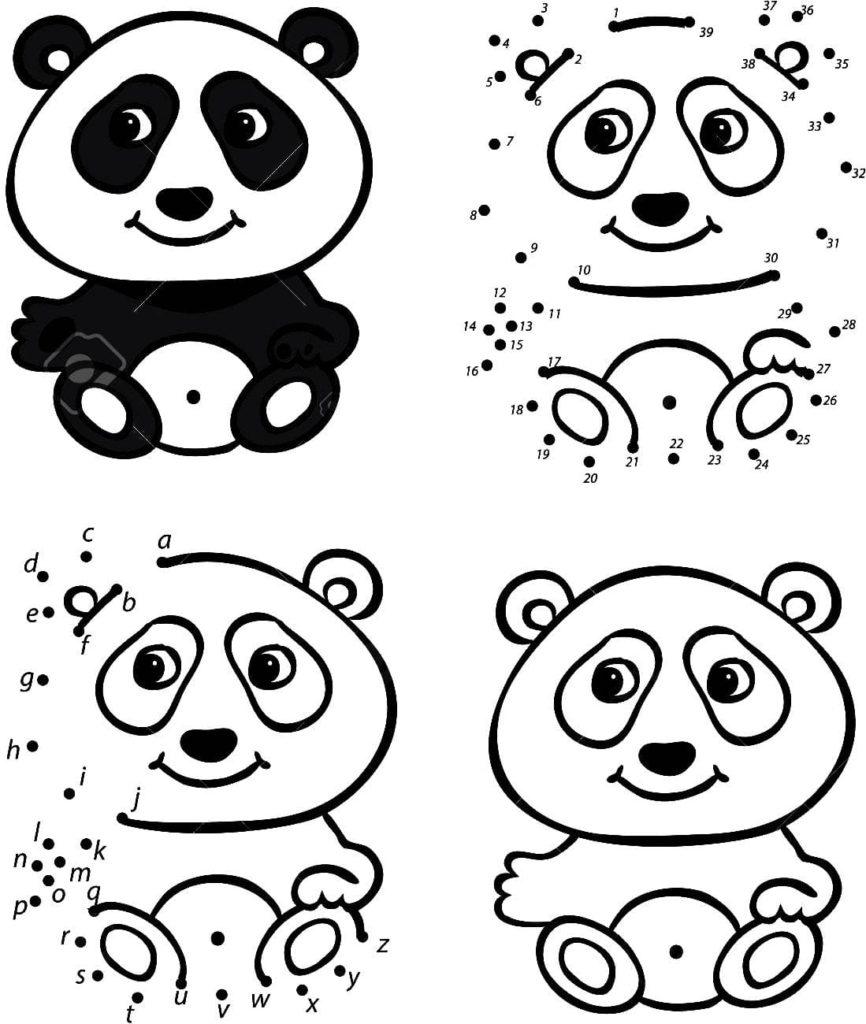 ausmalbilder panda zum drucken  wonder day — ausmalbilder