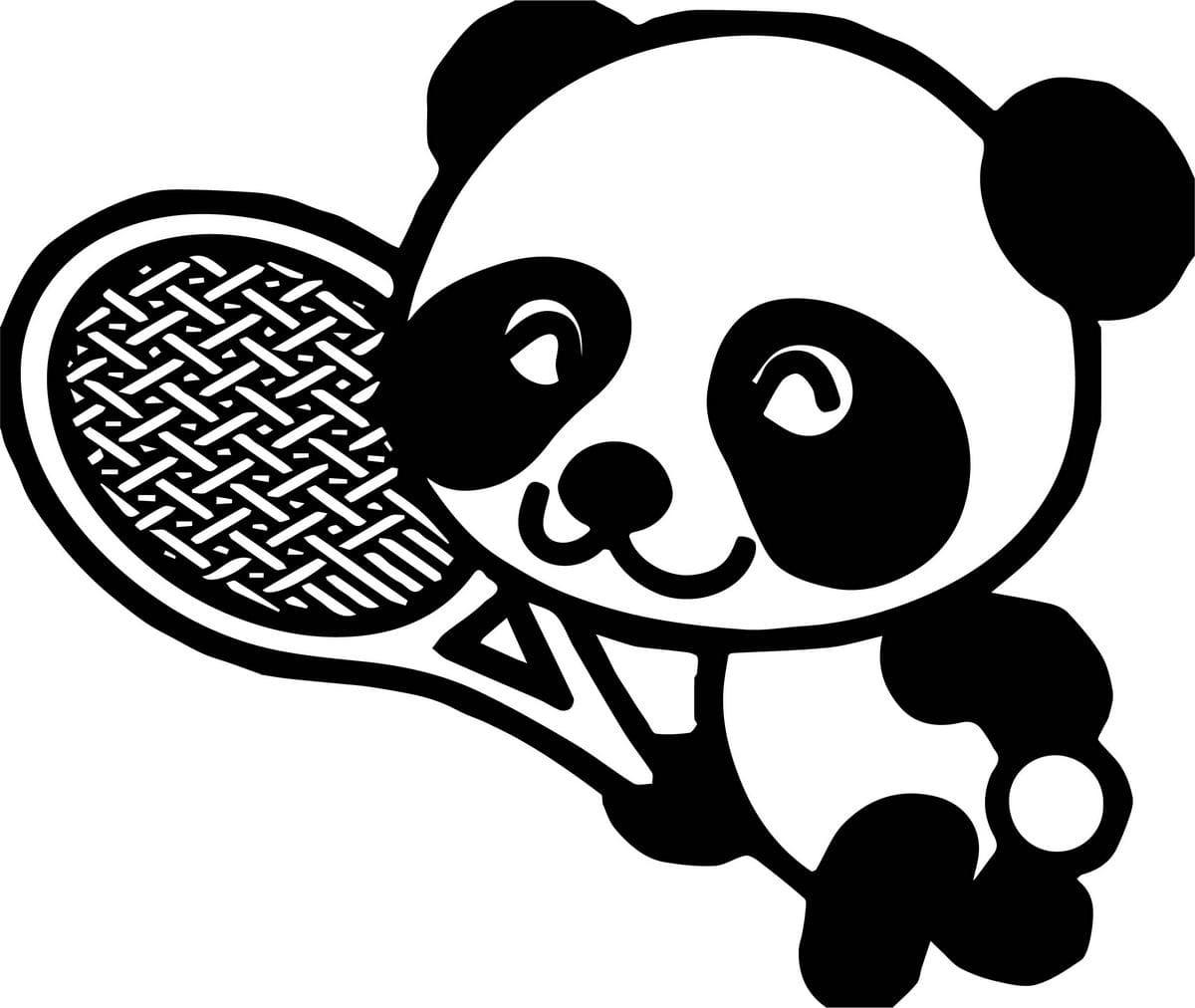 ausmalbilder panda zum drucken  wonder day
