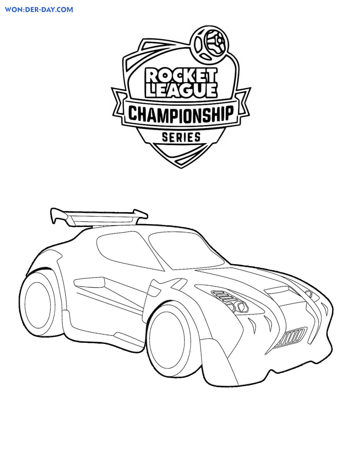 Rocket League Coloring Pages Print For Free Wonder Day