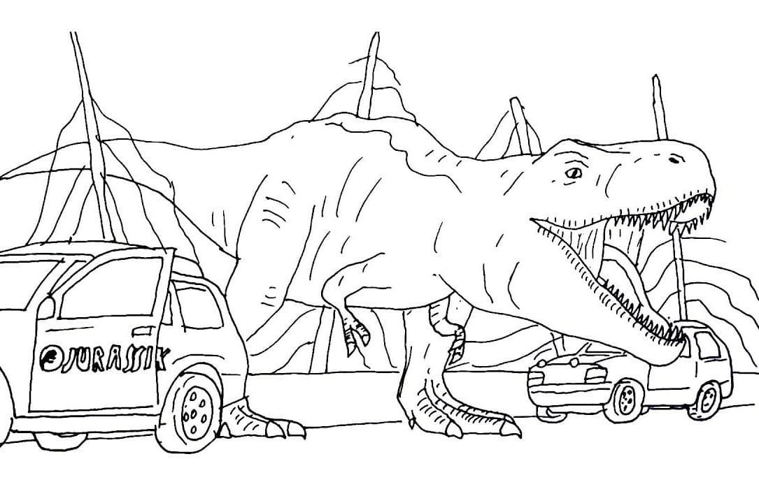 coloriage t-rex à imprimer sur wonder-day